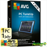 AVG PC TuneUp 2018 1 PC Vollversion 1 Jahr TuneUp Utilities DE Tune Up 2019 NEU