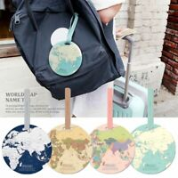 Baggage Holder Travel Accessories World Map Bag Tags Suitcase Label Boarding ID