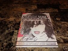 Norah Jones Rare Authentic Hand Signed Promo Lyric Book Little Broken Hearts NEW