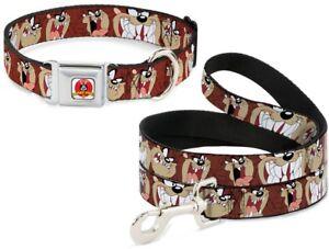 Buckle Down Seatbelt Dog Collar or Leash Tasmanian Devil TAZ Tunes - Made in USA