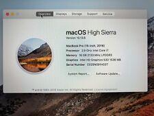 """2016 15"""" Apple MacBook Pro RETINA 2.9 GHz Core i7 1TB SSD 16GB Radeon 560 4gb"""