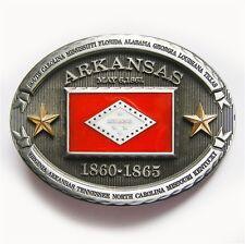 New Vintage Arkansas State Flag Belt Buckle Gurtelschnalle Boucle de ceinture