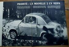Article Nouvelle 2 CV Vespa  , 1957, clipping, photos