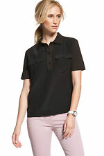 Lacoste Casual Black Silk Blend Polo Shirt 38/6 $185 QF2028 BNWT 100% Authentic