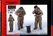 """Hobby Fan 1/35 Hf-722 Wwii British Tank Crew """" Meals for Victory """" - 2 Figures"""