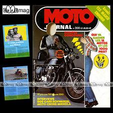 MOTO JOURNAL N°200 SIDE-CAR  WERNER SCHWARZEL CROSS HEIKKI MIKKOLA MOTOPLAT 1975