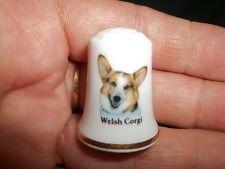 New Listingvintage Welsh Corgi Dog Collectible ceramic Thimble figurine Lim.Edition