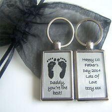 Baby Handprint and Footprint Keyring - Ideal Father's Day Gift