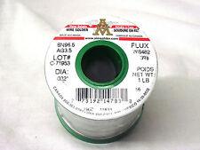 AIM Lead Free Silver Solder 032 Diameter SN96.5/AG3.5  1 Lb  North American Made