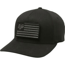 Taglia S/M - Cappellino Originale Fox Racing Placate Flexfit Hat Black Nero