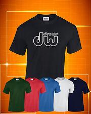 DW Drums Outline Logo T-Shirt Colour ,Size and Print Colour Choice