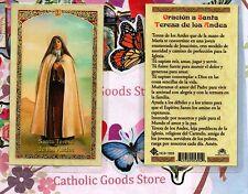Oracion a Santa Teresa de los Andes - Spanish - Laminated Holy Card