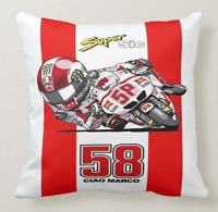 CUSCINO PILLOW TRIBUTO MARCO SIMONCELLI SUPPERSIC MOTO GP CAMPIONE 58 - 1