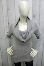TOMMY HILFIGER Donna Taglia M Maglione Grigio Lana Sweater Pullover Sciallato