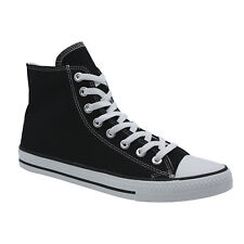 AfterGen Men High Top Lace Up Canvas Shoes Athletic Sneakers Black