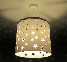 White Stars Lampshade + EREKI Magnetic Set for Touchless Bulb Changing Design