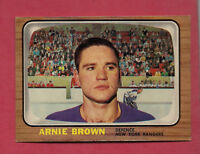 1966-67 OPC  # 90 NY RANGERS ARNIE BROWN  CARD