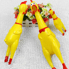 Medium Screaming Rubber Yellow Chicken Squeaky Squeaker Pet Dog Puppy Toy Gift