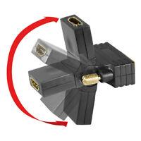 HDMI Kupplung DVI-D 24+1 Monitor Stecker Adapter flexibel drehbar abgewinkelt