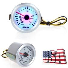"Auto Car Turbo Boost Vacuum Press Gauge Meter 2"" 52mm 0-30 PSI 0~30in.Hg LED US"