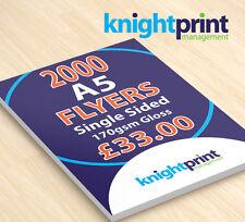 2000 A5 Flyers / Leaflets / menu's, single sided, 170gsm gloss, Only £33.00