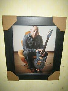 Mark Knopfler Excellent Hand Signed Photograph (8x10) Framed + CoA