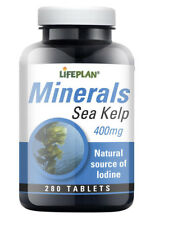 Lifeplan SEA KELP 400mg - rich in minerals & Iodine 280 Tablets