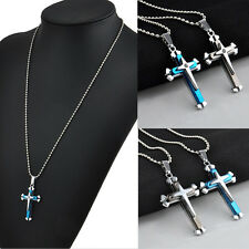 New Gift Unisex's Men Stainless Steel Cross Pendant Necklace Chain Jewelry