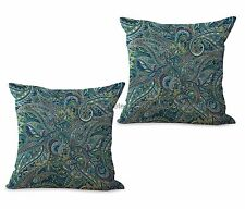 US SELLER-set of 2 decorative pillows cushion covers paisley vintage flower