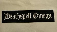 Deathspell Omega Embroidered Patch IRON-ON/SEW ON BLACK METAL USA Seller