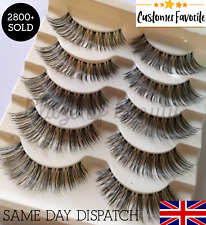 5 Pairs NATURAL LONG WISPY False Eyelashes Volume Length WSP Lashes MakeUp