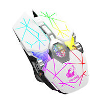 Free Wolf X13 Wireless Gaming Mouse Rechargeable Mechanical Backlight 6 Buttons