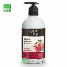 Organic Shop Vitamin Hand Soap Organic Pomegranate & Patchouli 500ml