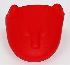 Universal Silicone Oven Mitt / Pot Holder / (Heat Resistant) - Kitten - Red