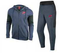 NIKE AIR MENS TRACKSUIT SET FULL ZIP HOODIE PANTS THUNDER BLUE ANTHRACITE RED