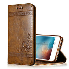 New Real PU Leather Wallet Card Holder Flip Case Cover For iPhone XS /Samsung S9