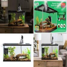 Aquatic Reptile Habitat Kit Aquarium Tank Terrarium Pet Frog Turtle Lamp Filter