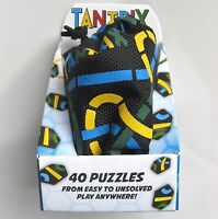 TANTRIX QUEST PUZZLE GAME WITH BAG BY PROFESSOR PUZZLE - 40 PUZZLES - BRAND NEW!