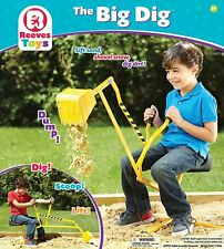 Sandbox Digger Fun Working Crane Kids Beach Ride On Pivots Play Dig Outdoor Toys