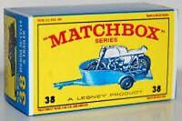 Matchbox Lesney No 38 HONDA MOTORCYCLE & TRAILER Empty Repro E style Box