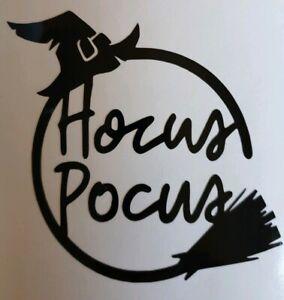 2x Hocus Pocus Witch Van Vinyl Sticker Halloween Window Decal Bumper 3in Black