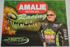 2015 Terry McMillen signed Amalie Motor Oil Top Fuel Nhra postcard
