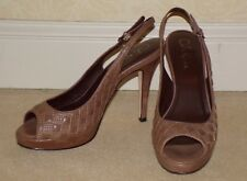 COLE HAAN Stephanie Air QUILTED High Heel Open Toe SLINGBACK Sandals Beige - 9
