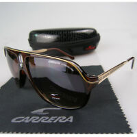 6a342ff8f2cd Fashion Men Womens Retro Sunglasses Unisex Aviator Black and Brown Frame  Glasses