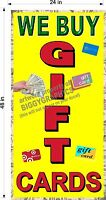 NEW PERFORATED WINDOW VINYL DECAL BUY GIFT CARDS 2' X 4' LARGE GRAPHIC VERTICAL