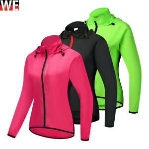 Women's Cycling Jacket High Visibility Waterproof Running Hiking Outdorrt Coat