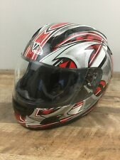 Vega Motorcycle Riding Helmet Full Face DOT Size XL Red Black Silver Extra Large