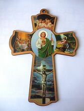 Wooden Wall Religious Cross Icon- 1st Holy Communion Gift. Jesus Aussie seller.