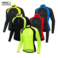New Quick Dry Cycling Jersey Mens Long Sleeve Bike Shirt Bicycle Sportswear Tops