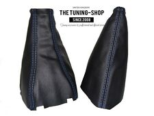 For Holden Viva 2002-2009 Gear & Handbrake Boot Black Leather Blue Stitching